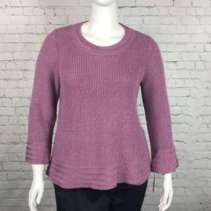 Style & Co Pretty Mauve Sweater Plus Size 0X